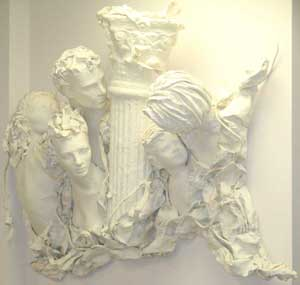 The office bas relief sculpture